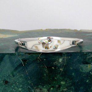 Taxco Mexican Bracelet Abalone Alpaca Silver C03